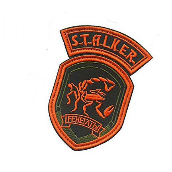 Embroidery Patch Airsoft Morale Patch 3 2 Pieces Stalker S.T.A.L.K.E.R. Factions Renegades Shadow of Chernobyl Military Hook Loop Tactics Morale Embroidered Patch