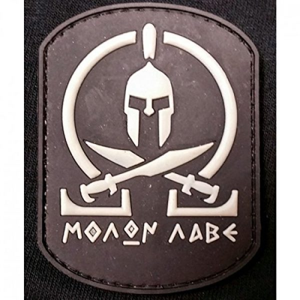 DDT VETERAN OWNED AND OPERATED Airsoft Morale Patch 1 DDT Molon Labe PVC Morale Patch