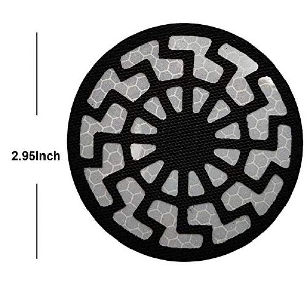 APBVIHL Airsoft Morale Patch 2 Reflective Infrared IR Black Sun Patch Stickers Chemical Resident Evil Military Morale Decorative Patches Emblem Badges Tactical Appliques with Hook and Loop Fastener Backing