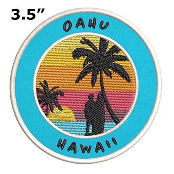 Appalachian Spirit Airsoft Morale Patch 2 Oahu, Hawaii Surfing Spot Embroidered Premium Patch DIY Iron-on or Sew-on Decorative Badge Emblem Vacation Souvenir Travel Gear Clothes Appliques