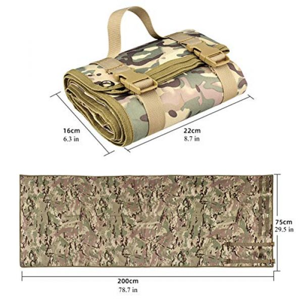 N  A Tactical Pouch 6 N  A Shooting Mat for Range, Shooting Mat, Shooting Gear Tactical Training Shooting Pad Rool-Up Shooters Mat Non-Slip Durable Shooting Rest
