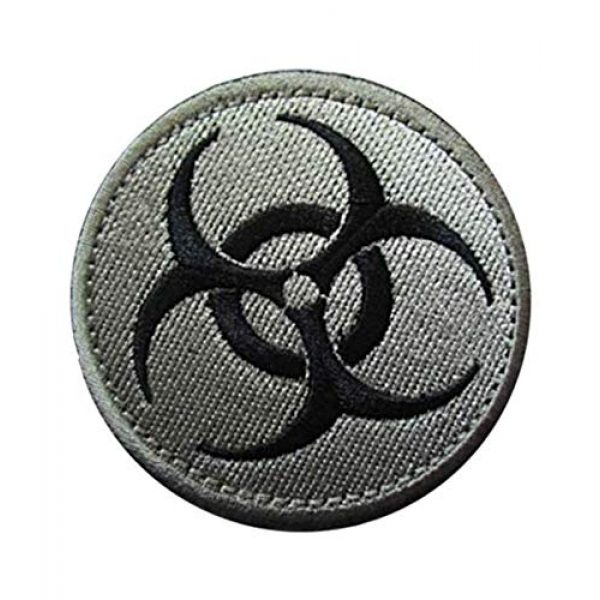 Embroidery Patch Airsoft Morale Patch 2 Resident Evil Biohazard Symbol Zombie Military Hook Loop Tactics Morale Embroidered Patch