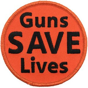 """Gadsden and Culpeper Airsoft Morale Patch 1 Guns Save Lives Tactical Morale Patch - 3"""" Circle"""