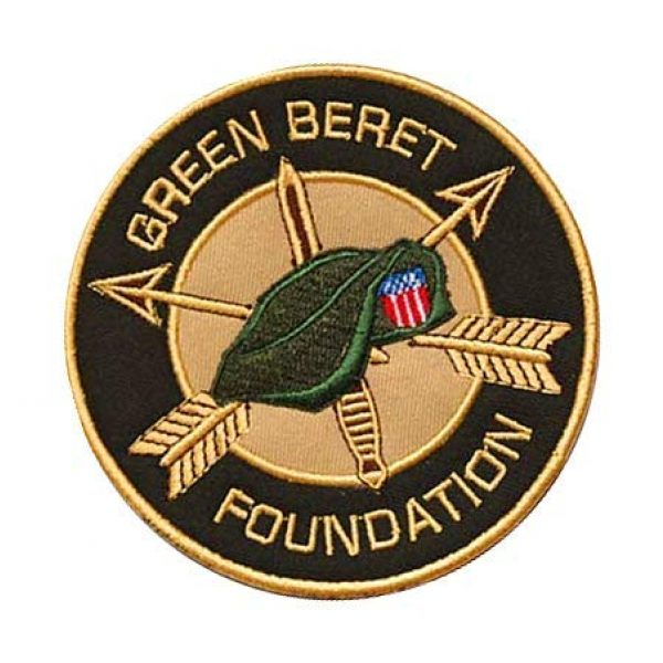 Embroidery Patch Airsoft Morale Patch 2 Green Berets Military Hook Loop Tactics Morale Embroidered Patch