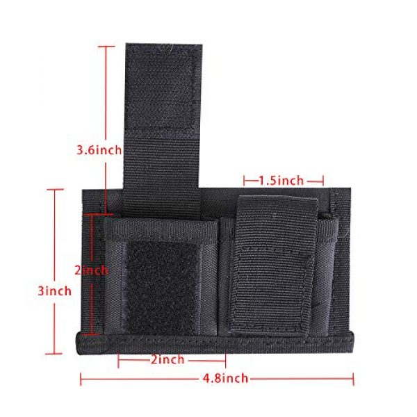 ACKEIVTO Tactical Pouch 6 Speedloader Pouch Case Holder Nylon Tactical Double Speedloader