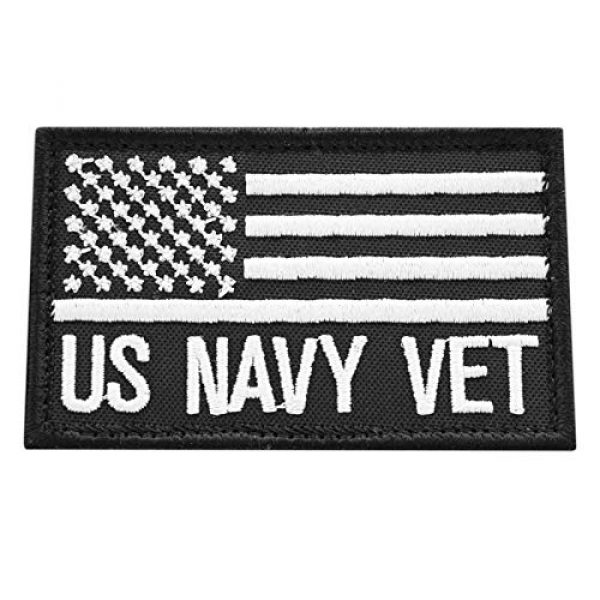 LEGEEON Airsoft Morale Patch 1 LEGEEON US Navy Veteran USN Vet 2x3.25 Morale Tactical Fastener Cap Patch