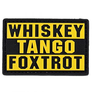 LIVABIT Airsoft Morale Patch 1 LIVABIT PVC Rubber 3D Morale Patch MP-23 Tactical Airsoft Paintball Yellow WTF Whiskey Tango Foxtrot