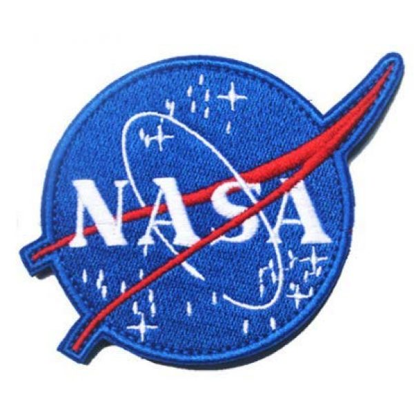 Tactical Embroidery Patch Airsoft Morale Patch 1 NASA Logo National Aeronautics and Space Administration Embroidery Patch Military Tactical Morale Patch Badges Emblem Applique Hook Patches for Clothes Backpack Accessories