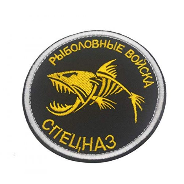 Tactical Embroidery Patch Airsoft Morale Patch 1 Russian Fishing Troops Special Operations Forces Embroidery Patch Military Tactical Morale Patch Badges Emblem Applique Hook Patches for Clothes Backpack Accessories