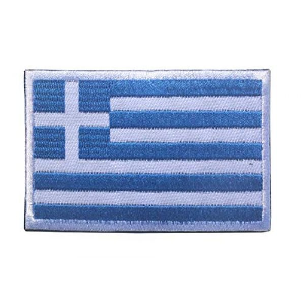 Tactical Embroidery Patch Airsoft Morale Patch 3 2pcs Greece Flag Embroidery Patch Military Tactical Morale Patch Badges Emblem Applique Hook Patches for Clothes Backpack Accessories