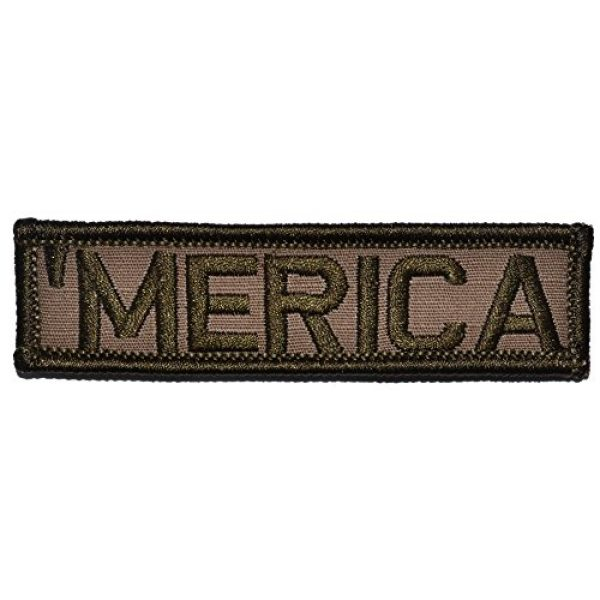 Tactical Gear Junkie Airsoft Morale Patch 1 Merica 1x3.75 inch Patch - Coyote Brown