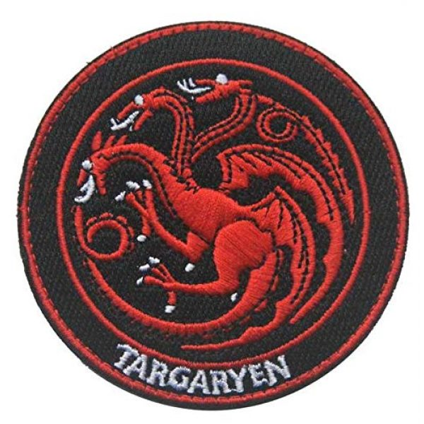 Embroidered Patch Airsoft Morale Patch 1 Game of Thrones A Song of Ice and Fire 3D Tactical Patch Military Embroidered Morale Tags Badge Embroidered Patch DIY Applique Shoulder Patch Embroidery Gift Patch
