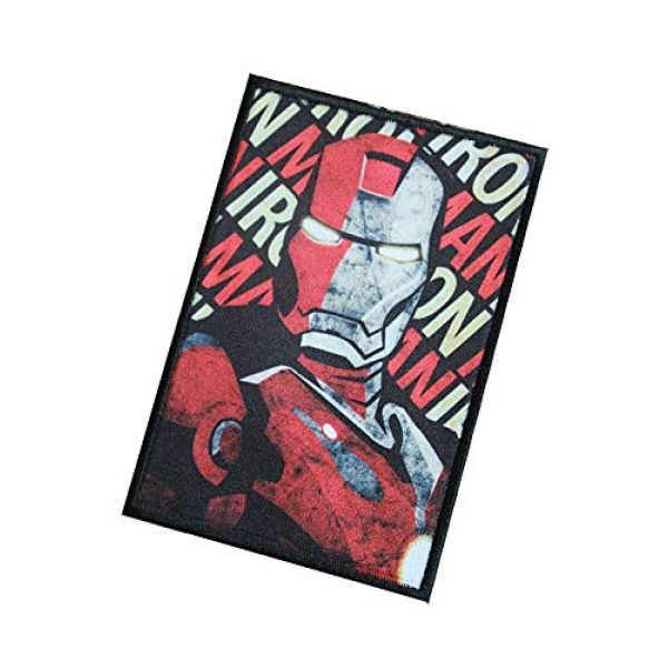 Fine Print Patch Airsoft Morale Patch 3 Iron Man Marvel Comics Military Hook Loop Tactics Morale Patch