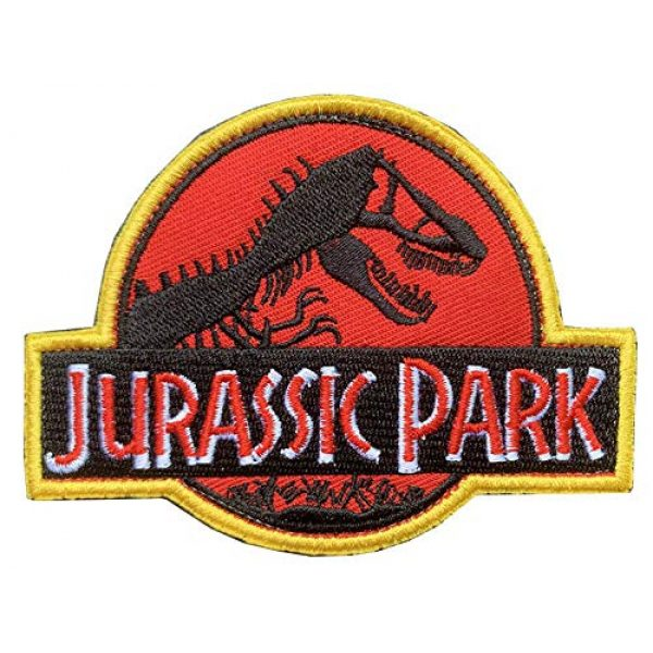 "Antrix Airsoft Morale Patch 2 Antrix 2 Pieces Jurassic Park Park Security Officer Patch Jurassic Park Dinosaur Emblem Patch Hook & Loop Tactical Badge Patches -Dia.3.15"""