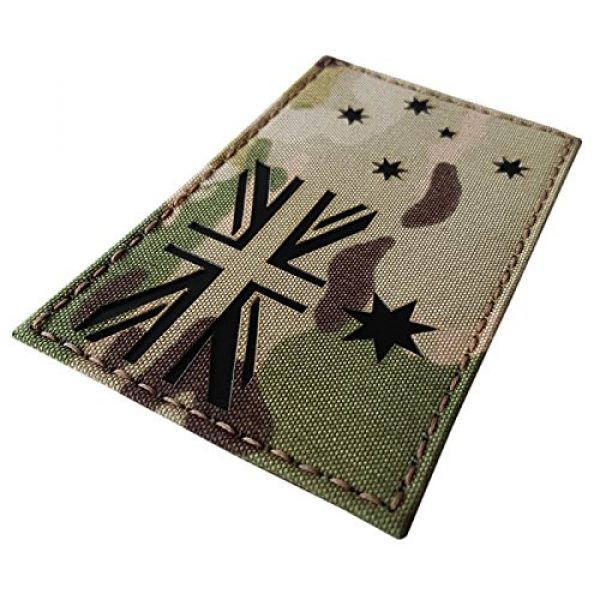 Tactical Freaky Airsoft Morale Patch 1 Big 3x5 Multicam Infrared IR Australia Flag IFF Tactical Morale Hook-and-Loop Patch