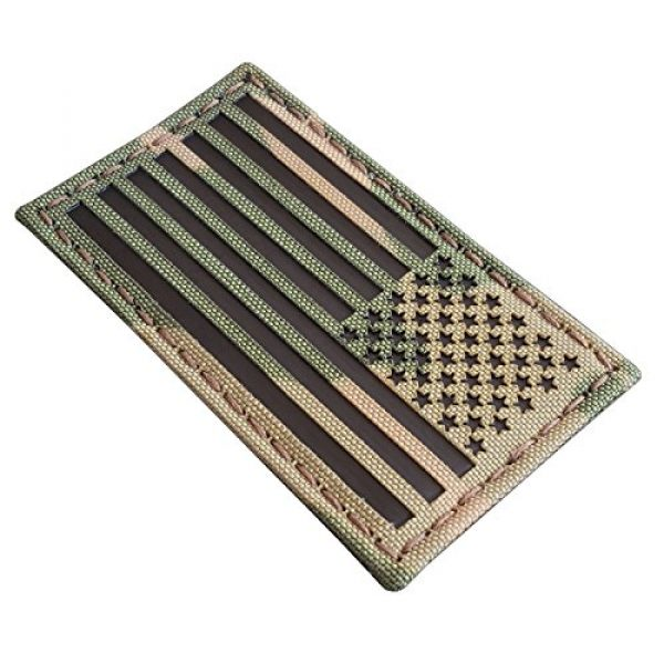 Tactical Freaky Airsoft Morale Patch 3 Multicam Infrared IR USA American Reversed Flag 3.5x2 IFF Tactical Morale Fastener Patch