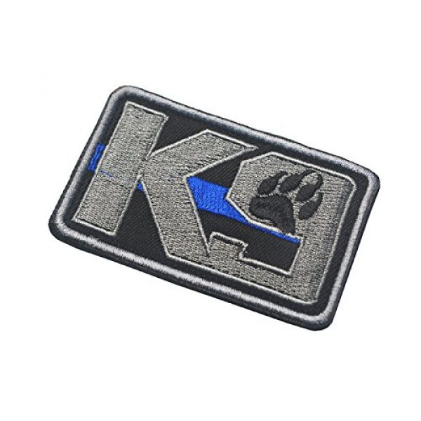 Zhikang68 Airsoft Morale Patch 4 K9 & Crossbone Killer Attack Police Dog Fastener Patch Embroidered Army Swat Morale Hook Loop Backing Tactial Badge Swat for Service Animal Vest (K9 Blue line)