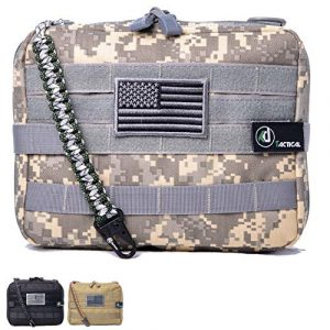 KD Tactical Tactical Pouch 1 KD Tactical Elite Molle Admin Pouch | Military Grade EDC Utility Bag and Vest Attachment | Water-Resistant Modular Zipper Multi-Purpose Layout | Organize EMT Medic Tool Hiking Airsoft