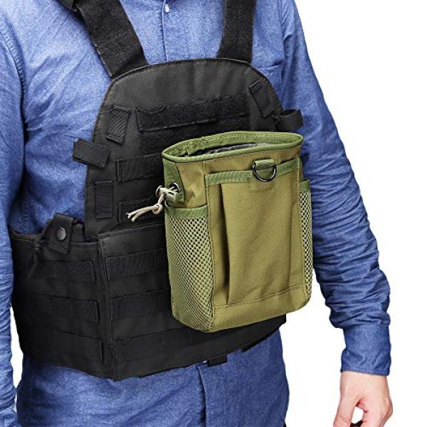 AMYIPO Tactical Pouch 6 AMYIPO Tactical Molle Drawstring Magazine Dump Pouch, Military Adjustable Belt Utility Hip Holster Bag Outdoor Mag Pouch