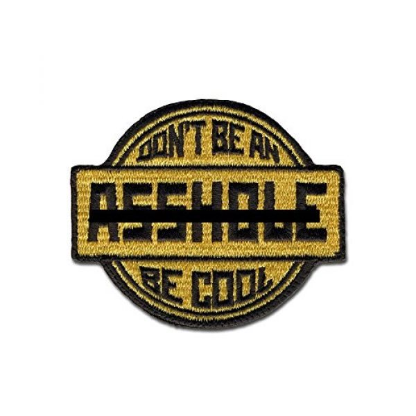 BASTION Airsoft Morale Patch 1 BASTION Morale Patches (Be Cool, Tan)   3D Embroidered Patches with Hook & Loop Fastener Backing   Well-Made Clean Stitching   Military Patches Ideal for Tactical Bag, Hats & Vest
