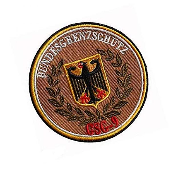 Embroidery Patch Airsoft Morale Patch 2 Germany Eagle German Bundesgrenzschutz GSG9 Military Hook Loop Tactics Morale Embroidered Patch