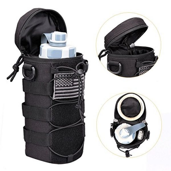 AMYIPO Tactical Pouch 6 AMYIPO Water Bottle Pouch Molle Tactical Holder Storage Bag for 32oz Carrier