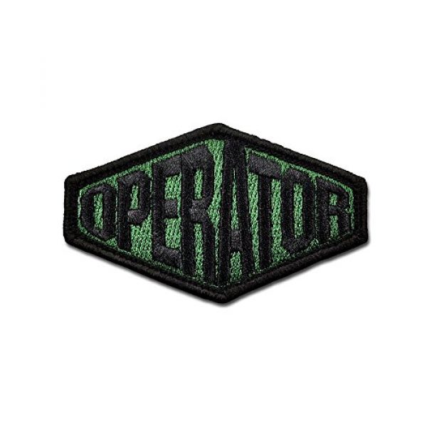 BASTION Airsoft Morale Patch 1 BASTION Morale Patches (Operator Ply, ODG)   3D Embroidered Patches with Hook & Loop Fastener Backing   Well-Made Clean Stitching   Military Patches Ideal for Tactical Bag, Hats & Vest