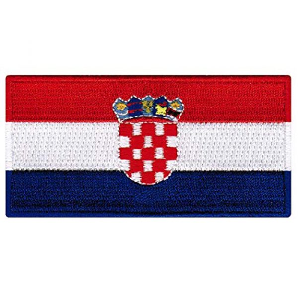 Cypress Collectibles Embroidered Patches Airsoft Morale Patch 1 Croatia Flag Embroidered Patch Iron-On Croatian National Emblem