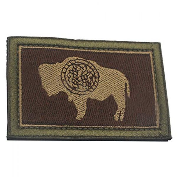 ZoyHouse Airsoft Morale Patch 2 States Flag Patches of the U.S Country Embroidery Morale Velcro Patch HZ55
