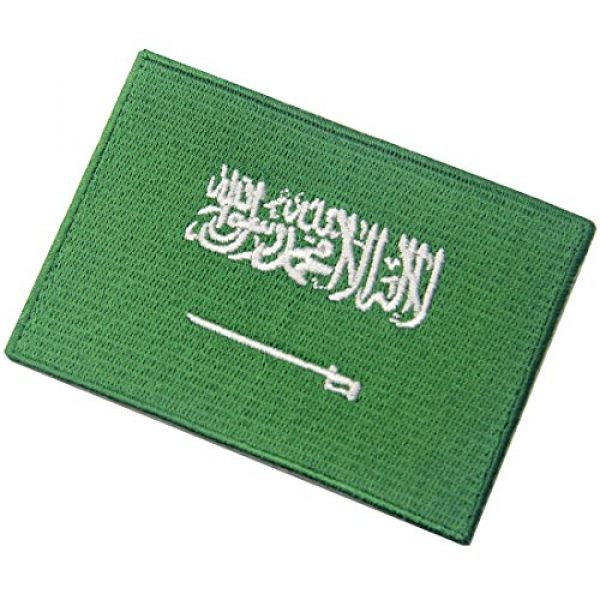EmbTao Airsoft Morale Patch 4 Saudi Arabia Flag Embroidered Arabian Emblem Iron On Sew On Arab National Patch