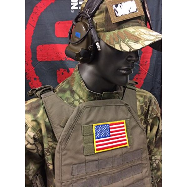 Empire Tactical USA Airsoft Morale Patch 2 Large 3x5 Inch Color Tactical Us USA Flag (Hook/Loop) Patch