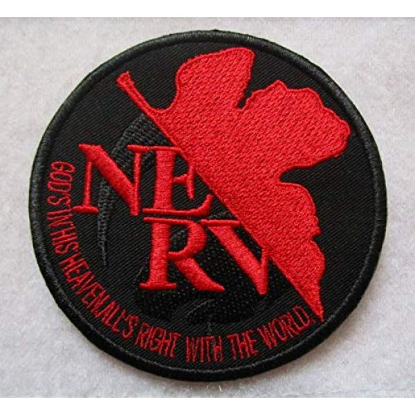 Embroidered Patch Airsoft Morale Patch 1 Evangelion Neon Genesis NERV Shinji Ikari Eva Manga 3D Tactical Patch Military Embroidered Morale Tags Badge Embroidered Patch DIY Applique Shoulder Patch Embroidery Gift Patch