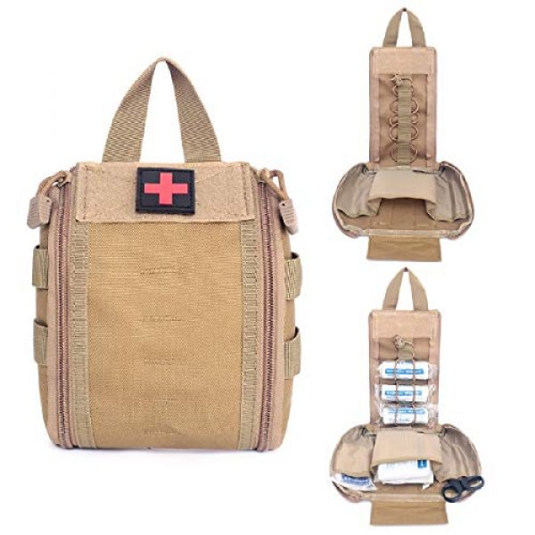 Azarxis Tactical Pouch 7 Azarxis Tactical MOLLE Rip-Away EMT Medical First Aid IFAK Utility Pouch Military Emergency EDC Trauma Bags Outdoor Survival Kit Suit
