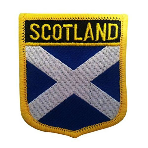 """Backwoods Barnaby Airsoft Morale Patch 1 Scotland Flag Emblem Patch/UK British Sew-On or Iron-On Tactical Morale Patch (Scottish Crest, 2.75"""" x 2.35"""")"""