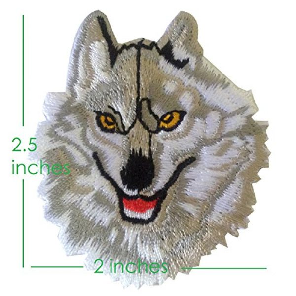 Ibestbuysell Airsoft Morale Patch 3 Wolf Patch for Backpacks - Wolf Iron on Patches for Clothing - Lone Wolf patchess for Jacket - Animal Patches Iron on - Nice Size- Stick Well - Versatile use for Jacket or Backpack