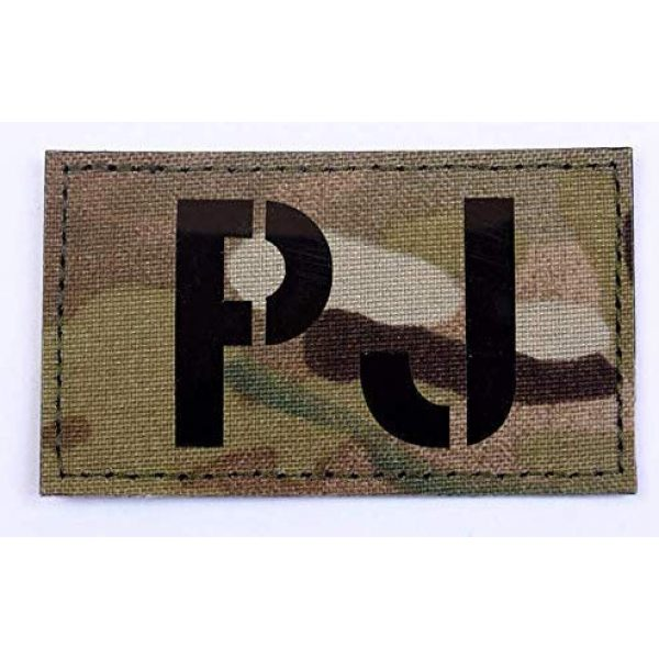 Embroidery Patch Airsoft Morale Patch 1 PJ Pararescue Jumper Military Hook Loop Tactics Morale Reflective IR Patch
