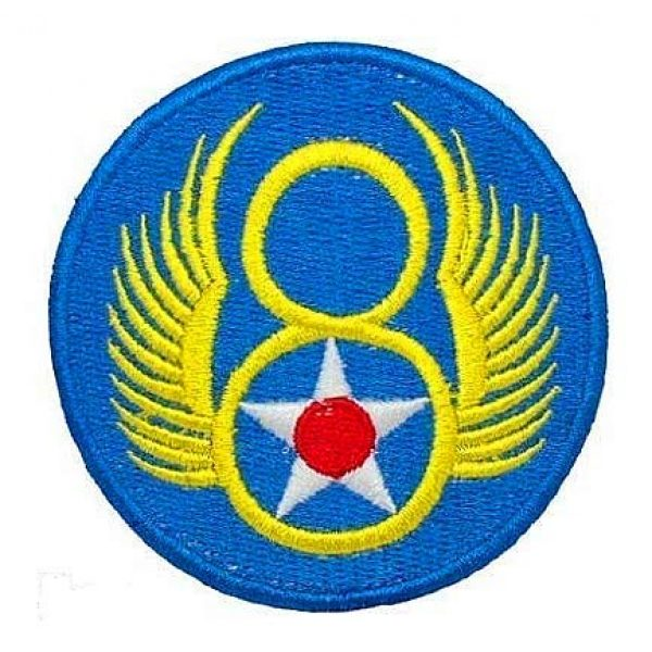 Embroidery Patch Airsoft Morale Patch 1 WW2 US Army 8th Air Force Military Hook Loop Tactics Morale Embroidered Patch