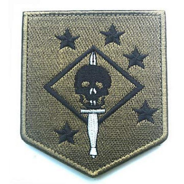 Embroidery Patch Airsoft Morale Patch 1 USMC Ghost Force Recon SP OPS Military Hook Loop Tactics Morale Embroidered Patch Marsoc Raiders Skull Patch (color2)