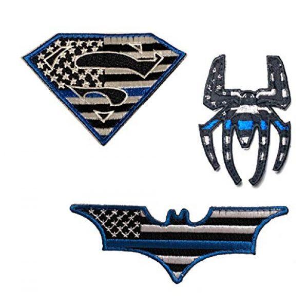 PakedDeals Airsoft Morale Patch 1 PakedDeals Thin Blue Line Morale Patch Hero Bundle Superman Batman Spider Man Tactical Accessories