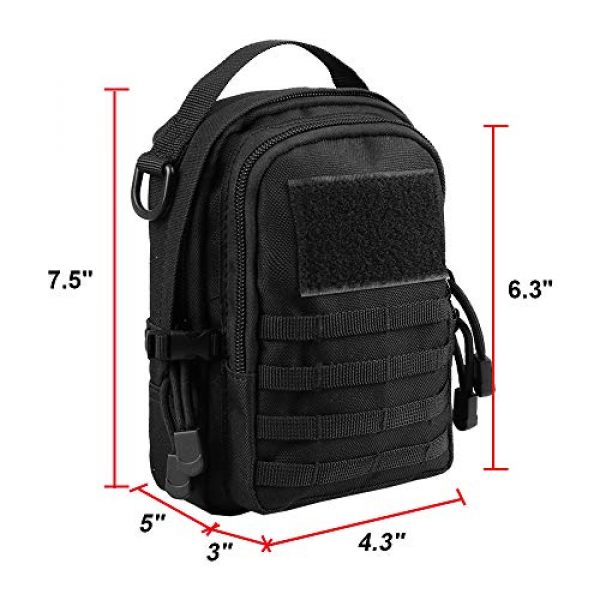 AMYIPO Tactical Pouch 2 AMYIPO Mini MOLLE Pouch Multi-Purpose Compact Tactical Small Waist Bags Utility Pouch Storage Pocket