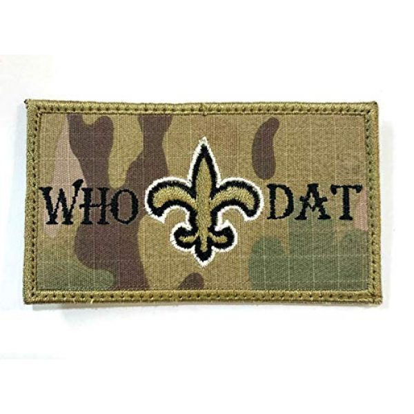 Almost SGT Airsoft Morale Patch 1 Saints WHO DAT Patch - Funny Tactical Military Morale Embroidered Patch Hook Backing(Camouflage)