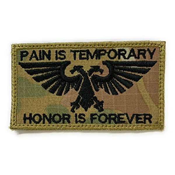 Almost SGT Airsoft Morale Patch 1 Warhammer 40K Aquila Pain is Temporary Honor is Forever Patch - Funny Tactical Military Morale Embroidered Patch Hook Backing(Camouflage)