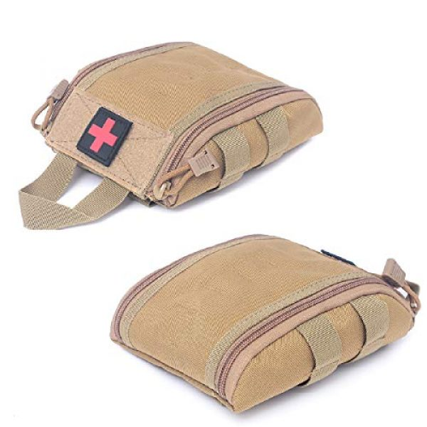 Azarxis Tactical Pouch 5 Azarxis Tactical MOLLE Rip-Away EMT Medical First Aid IFAK Utility Pouch Military Emergency EDC Trauma Bags Outdoor Survival Kit Suit