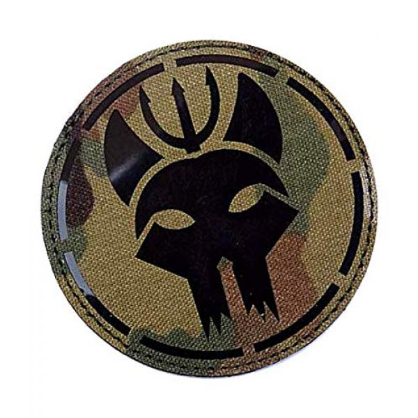 Embroidery Patch Airsoft Morale Patch 2 US Seal Team DEVGRU Military Hook Loop Tactics Morale Reflective IR Patch (color2)