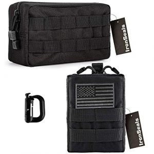 IronSeals Tactical Pouch 1 IronSeals 2 Pack Tactical Molle Multi-Purpose EMT Pouch Utility Gadget EDC Tool Waist Bag
