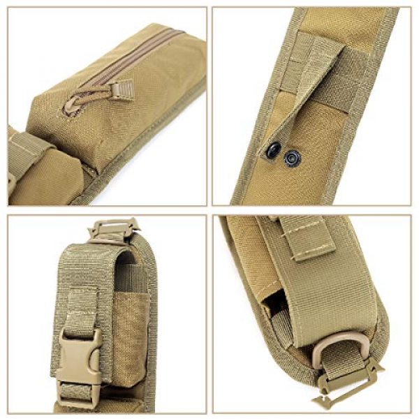 TRIWONDER Tactical Pouch 3 TRIWONDER Tactical Molle Accessory Pouch, Backpack Shoulder Strap Bag Shoulder Tape Additional Bag Multifunctional Hunting Tools Pouch