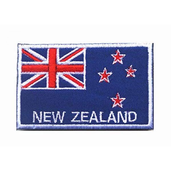 Tactical Embroidery Patch Airsoft Morale Patch 2 2pcs New Zealand Flag Embroidery Patch Military Tactical Morale Patch Badges Emblem Applique Hook Patches for Clothes Backpack Accessories