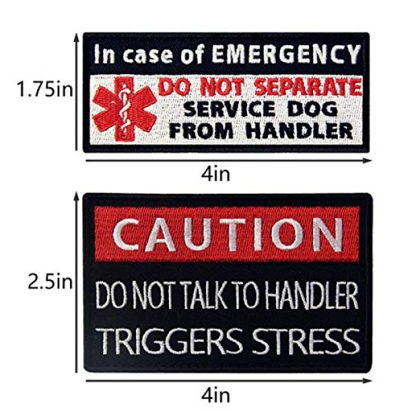 TailWag Planet Airsoft Morale Patch 3 Service Dog Do Not Pet Separate from Handler Triggers Stress Psychiatric Medic Paramedic Star of Life Vest/Harnesses Tactical Morale Patch Embroidered Badge Fastener Hook & Loop Emblem, 4 Pcs