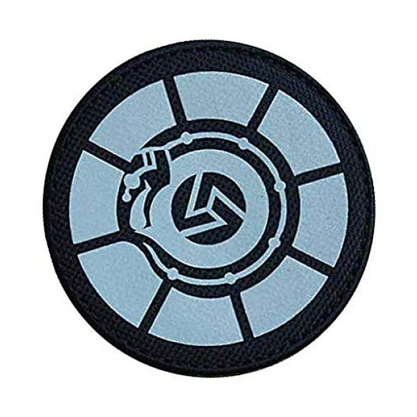 """Embroidery Patch Airsoft Morale Patch 2 SCP Foundation Special Containment Procedures Foundation SCP Mobile Task Forces Tau-5 Samsara"""" Military Hook Loop Tactics Morale Reflective Patch"""