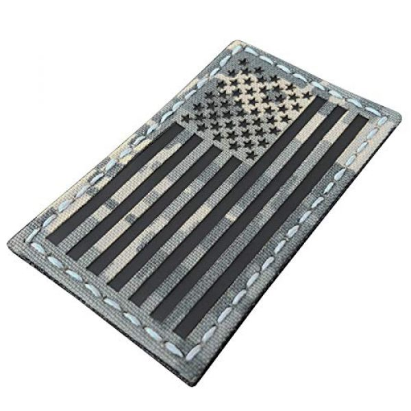 Tactical Freaky Airsoft Morale Patch 1 ACU Infrared IR USA American Reversed Flag 3.5x2 IFF Tactical Morale Fastener Patch